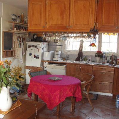 la pièce à vivre avec le coin cuisine
